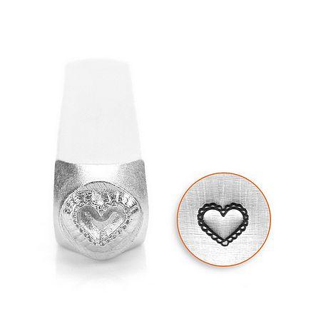 Design stempel Lace Heart 6mm ImpressArt