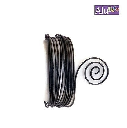 AluDeco Wire 2mm Zwart Embossed (5m)