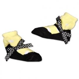 J.i.P ballet sokjes geel wit zwart