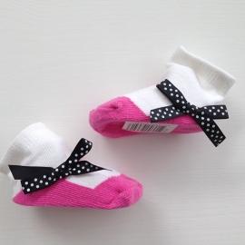 J.i.P ballet sokjes fuchsia roze wit