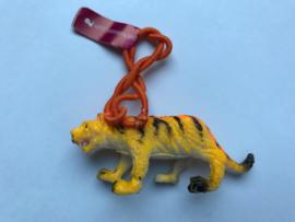 Haarelastiek tijger met oranje elastiek