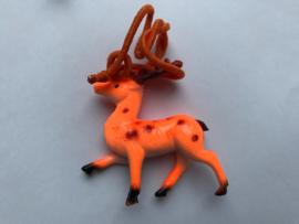 Haarelastiek oranje hert met oranje elastiek