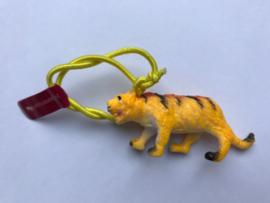 Haarelastiek tijger met geel elastiek