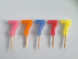 Cijferkaarsje '7'