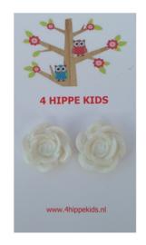 Stekers met witte rozen