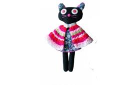 Pakhuis Oost knuffel zwarte kat Cathy