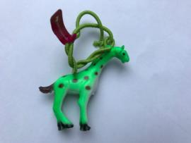 Haarelastiek groene giraf met groen elastiek