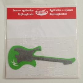 Strijkapplicatie gitaar groen
