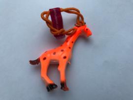 Haarelastiek oranje giraf met oranje elastiek