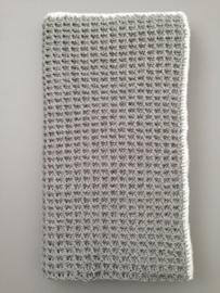 Dekentje 80 x 100 cm grijs met sparkle