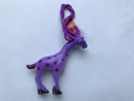 Haarelastiek paarse giraf met paars elastiek