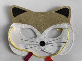 Kat masker met glitter