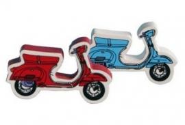 Deurknopje scooter rood of blauw