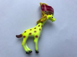 Haarelastiek gele giraf met geel elastiek