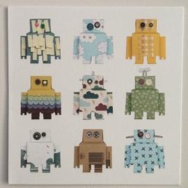 Kaart Robots blauw