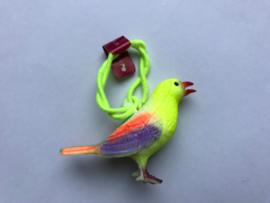 Haarelastiek vogel met geel elastiek