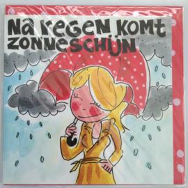 Blond kaart Na regen komt zonneschijn