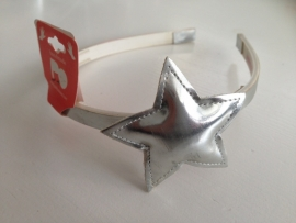 Haarband ster zilver