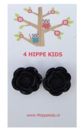 Stekers met zwarte rozen
