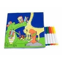 J.i.P afwasbaar kleurboek Zoo Planet