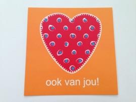 Lief! postcard `ook van jou!`