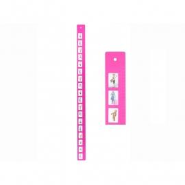 J.i.P groei meter roze