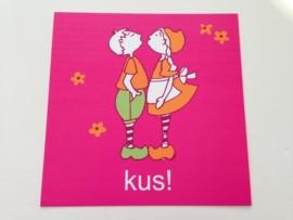 Lief! postcard `kus!`