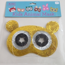 Dierenmasker met lovertjes Panda