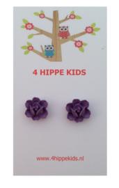 Stekers met paarse bloemetjes