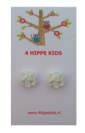 Stekers met witte bloemetjes