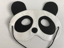 Panda masker met glitter