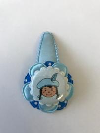 Haarspeldje Pietje blauw