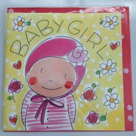 Blond kaart Baby Girl
