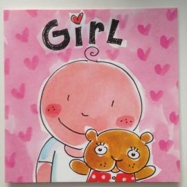 Blond kaart Girl
