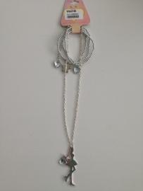 Saartje zilverkleurige ketting met armband