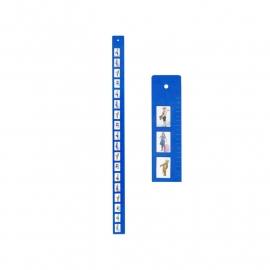J.i.P groei meter blauw
