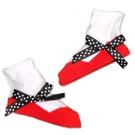 J.i.P ballet sokjes rood wit