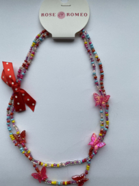 Vlinderketting multicolour