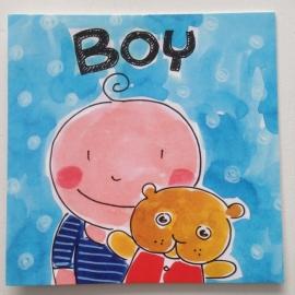 Blond kaart Boy