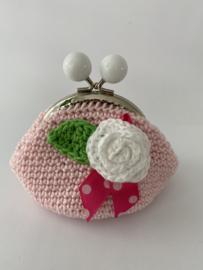 Portemonneetje licht roze