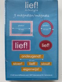 Lief! magneten 9 stuks meisje