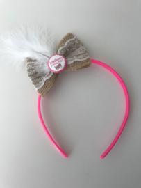 Diadeem Welkom Sint & Piet roze