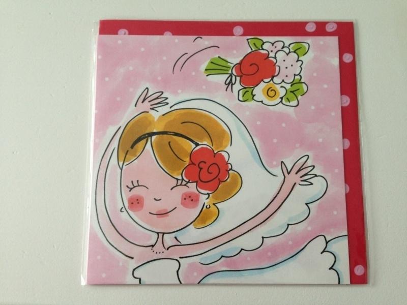 Blond kaart Bruid/Boeket