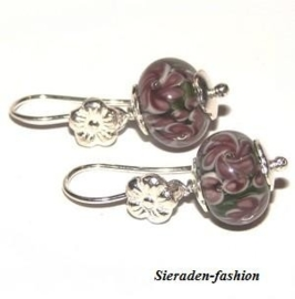 OL06. Pandora style zilveren oorbellen