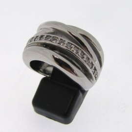 Stainless Steel ring | zirkonia mt 17 / 18 / 19mm