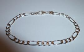 Zilveren schakel armband 19 cm | A003