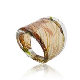 MR10. Murano ring (bruin) 16mm