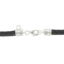 Leren Charm armband 20 cm | HCB018