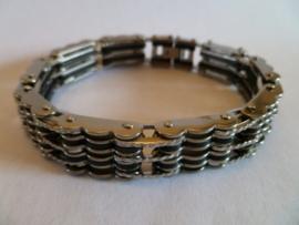 Rubber/edelstalen armband 20cm | HA19