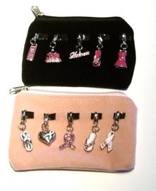 Charm portemonnee/buideltje roze